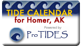 See Tide Calendar for Homer, AK